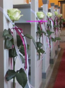 Blumen für die Bänke