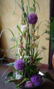 Gesteck mit Gladiolen