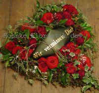 Herz rote Rosen