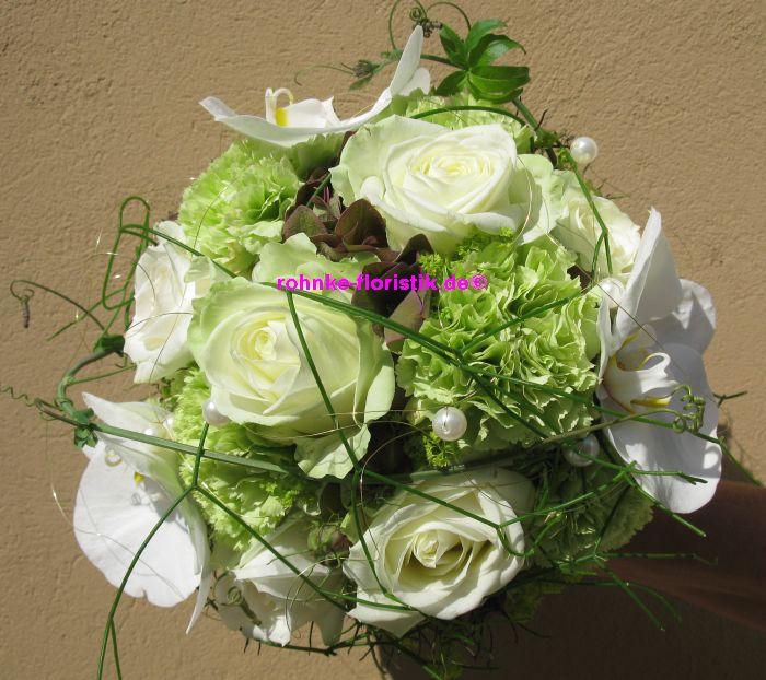 Hochzeitsstrauss Mit Orchideen Rohnke Floristik