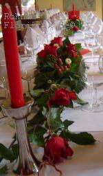 Tischgesteck rote Rose